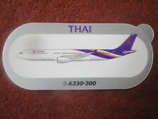 AUTOCOLLANT STICKER AUFKLEBER AIRBUS A330-300 THAI AIRWAYS AIRLINE THAILANDE