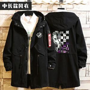 Anime No Game No Life Cosplay Unisex Hoodie Jacket Sweatshirt Black Greatcoat