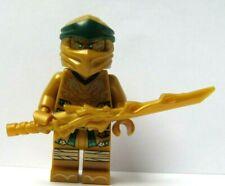 Lego Ninjago Gold Golden Lloyd Ninja Minifigure & Dragon Sword  Reversible Head