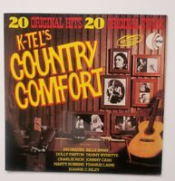 "COUNTRY COMFORT 20 Original Hits Cash Wynette Vinyl 33 rpm 12"" LP K-tel NE924 DA"