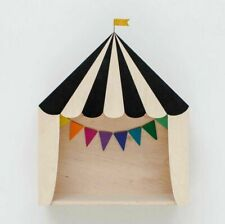 Wooden Toy Storage Box Decorative Design Cool Circus Tent Use For House Displays