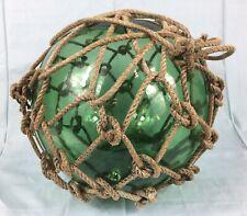 Vintage Glass Tuna, Fishing Net Float / Nautical / Interiors
