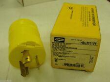 Hubbell hbl2311vy insulgrip twist-lock plug 20 amp 125v 2 pole 3 wire grounding