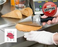 """Commercial 10"""" Waffle Cone Maker Ice Cream Roller Mold Big Rolling Forming Tool"""