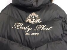Rare Vintage 90s Baby Phat Black Down Filled Puffer Jacket Sz XXXL 3XL