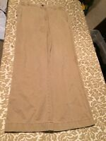 """MENS OLD NAVY """"LOOSE FIT"""" KHAKI PANTS 31x32 Work Play Condition"""