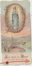 St Bernadette French Relic Card  Cloth Touched the Body of Saint 1931