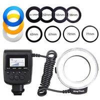 48pcs LED Macro Ring Flash Light for Nikon Canon Olympus Camera+8 Lens Adapter