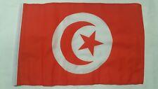 """TUNISIA FLAG 18"""" X 12"""" TREEHOUSE COURTESY CARAVAN SLEEVED FLAGS"""