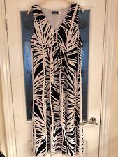 Ladies Clothes Size 14 Mint Velvet Midi Length Sleeveless Summer Dress (667)