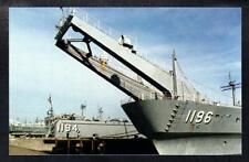 Amphibious Tank Landing Ships at Little Creek Amphibious Base Navy Ship Postcard