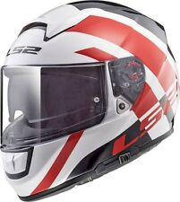 LS2 FF397 FT2 VECTOR EVO TRIDENT RED FIBREGLASS FULL FACE MOTORCYCLE HELMET