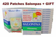 420 Patches =35x12 Hisamitsu SALONPAS - Muscle Arthritis Aches Pain Relief