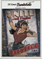 Volume 2 #43 DC Comics Bombshells Copper Deco Base Card A12 Justice League