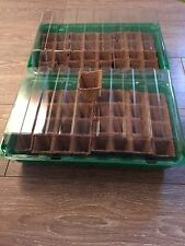 Lot de 2 Mini Serre de Germination + 64 Godets Biodégradables