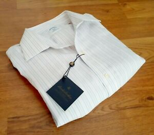NEW Brooks Brothers 346 Men's Large Shirt 16/33 Slim Non Iron French Cuff $79.50