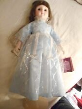 Schmid Musical Dolls Collection ~ Ballerina Dressed in Blue with Tags and Stand