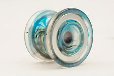 Northstar Blue and Black Marble Finger Spin Yo Yo From YOYOFactory + 3 Strings