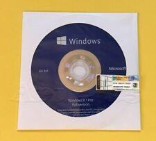 Microsoft Windows 8.1 PRO Professional 64bit DVD + COA Product Key + Hardware**