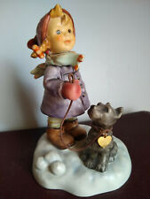 New ListingGoebel Hummel Star Light Star Bright 2037 Tmk8 Girl Puppy w/ Heart Tag Free Ship