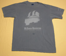 McDonald Observatory Harlan Smith Telescope T-Shirt Blue-Gray size M Stain