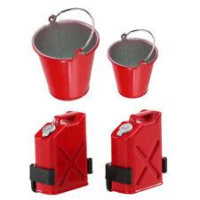2PCS Bucket Pail Model+Plastic Petrol Cans 1:10 Crawler RC Climbing Truck