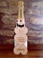 Personnalisé anniversaire cadeau alcool vin Tag souvenir en bois 18th 21st 30th 40th
