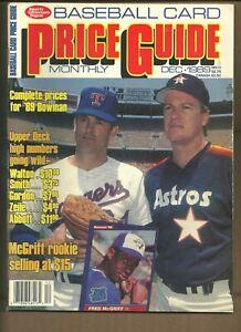 Sports Collectors Digest Baseball Card Price Guide December 1989 Nolan Ryan