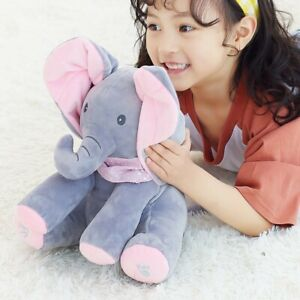 Soft Plush Electric Animals with music Play Hide and Seek for kids