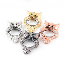 New Living Memory Locket Crystal Owl Necklace Floating Charm Pendant Charms EP