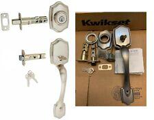 Kwikset Belleview Satin Nickel Single-Cylinder Deadbolt Entry Door Exterior Hand