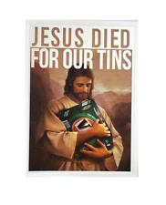 STICKER VB VICTORIA BITTER JESUS DIED FOR OUR TINS BEER BUMPER FREE POST