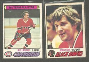 1977-78 O-PEE-CHEE OPC Hockey   lot starter  SET 381/396 CARDS BOBBY ORR