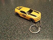 Chevrolet Chevy Camaro Bumble Bee Transformers Toy Car Yellow Keyring Keychain