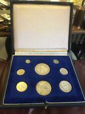 More details for 1911 george v specimen silver 8 coin set-halfcrown to maundy 1d in original case
