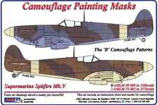 AML Models 1/48 CAMOUFLAGE PAINT MASKS SUPERMARINE SPITFIRE Mk.V B Camo Pattern