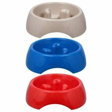 New Slow Feeding Plastic Pet Puppy Dog Cat Kitten Bowl *Fast Shipping*