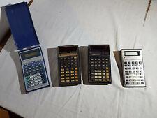 Set of vintage Texas Instruments calculators (SR-50A , TI 57 , TI 57 LCD, TI-30)