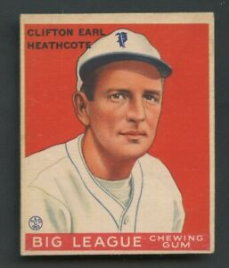 1933 Goudey #115 Earl Heathcote Philadelphia Phillies