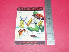 CHROMO PHOSPHATINE FALIERES 1925-1935 BONS PRODUITS / ILE DE FRANCE ILL. GOUGEON
