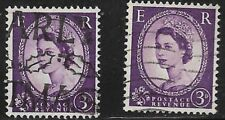 Great Britain Used 322 D     Graphite Lines  Singles as shown      (R7749)