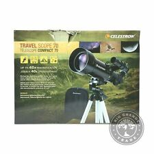 OPEN BOX Celestron 21035 Portable Travel Refractor Telescope in Black - 70mm