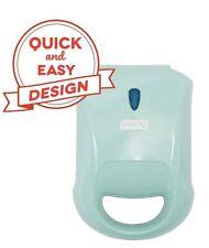 Dash Compact Panini Press + Electric Sandwich Maker Toasting, Grilling, Aqua