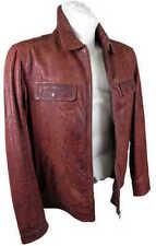 Cappotti e giacche da uomo in pelle rossa con cerniera