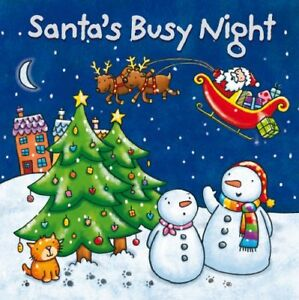 Baby Christmas Board Book - Santa's Busy Night (Xmas Board)-Igloo Books Ltd