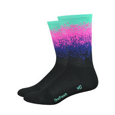"""Defeet Aireator 6"""" Ombre Black Cycling Sock"""