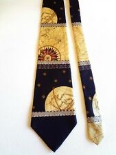 """THE METROPOLITAN MUSEUM OF ART - THE EARTH AND STARS -SILK TIE - 56""""L 4""""W"""