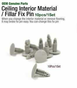 OEM Genuine Ceiling Interior Material Fillar Pin Fastener Gray for All Vehicle