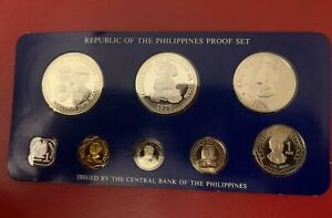 Philippines COINS - 1976 8 Coin Proof Set + Box & COA - IMF Meeting
