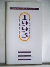 ENCORE AWARDS Playbill JASON ROBARDS / ARTS & BUSINESS COUNCIL INC. NYC 1993